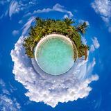 Little Planet Maldives Stock Images