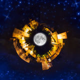 Little planet at night Stock Image
