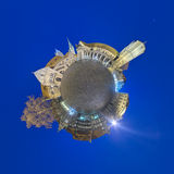 Little planet panorama of Braunschweig Stock Image
