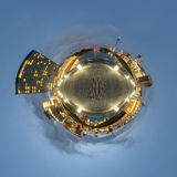 Little planet panorama of Dusseldorf Royalty Free Stock Photo