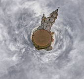 Little Planet Panorama of Holy Spirit Cathedral, Minsk, Belarus Royalty Free Stock Images