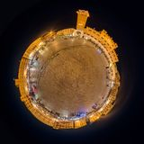 Little planet panorama of Piazza del Campo, Siena, Italy Stock Image