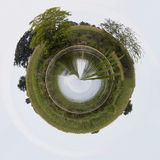 Little planet pond Royalty Free Stock Image