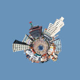 Little planet. Top view of an urban beach with the look of a little planet Royalty Free Stock Photography