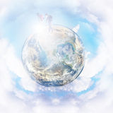Little planet and tourist Royalty Free Stock Photography
