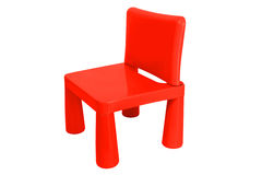 Little Plastic Chair isolated Royalty Free Stock Photo