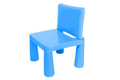 Little Plastic Chair isolated Royalty Free Stock Photography