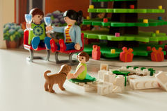 Little plastic toy`s world. Stock Photography