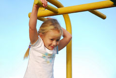 Little playground girl Stock Photos
