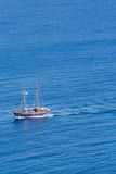 Little pleasure boat on the aegean sea Stock Images