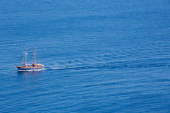 Little pleasure boat on the aegean sea Royalty Free Stock Images