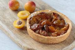 Little plums pie Stock Photography