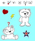 Little polar bear baby cartoon set5 Royalty Free Stock Photography