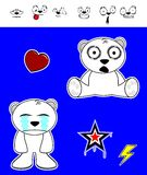 Little polar bear baby cartoon set6 Stock Photography