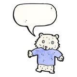 Little polar bear cartoon Stock Photo