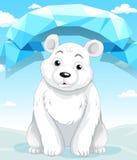Little polar bear sitting on ice Stock Photography