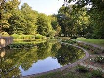 Free Little Pond With Crane Bird Statue In The Spa Garden Julijes Park Or Umjetno Jezerce Sa Statuom Zdrala U Julijevom Parku Royalty Free Stock Image - 157638176