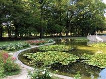 Free Little Pond With Crane Bird Statue In The Spa Garden Julijes Park Or Umjetno Jezerce Sa Statuom Zdrala U Julijevom Parku Stock Photography - 157638292