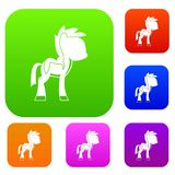 Little pony set color collection Stock Photography