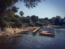 Little port in Cap d'Antibes in French Riviera Royalty Free Stock Photography
