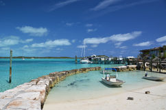 Little port at Exuma Cays Stock Image