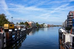 The little port of Zandaam. City, The Netherlands royalty free stock photo