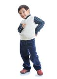 Little positive kid with nice clothes Stock Photo