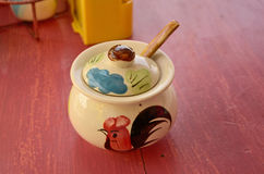 Little pot chinese style. Little beautiful painted pot chinese style Royalty Free Stock Photography