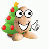 Little potato man christmas tree Stock Image