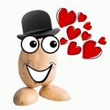Little potato man in love Stock Photography