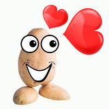 Little potato man in love Stock Image