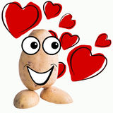 Little potato man in love Stock Images