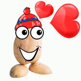 Little potato man in love Stock Photos