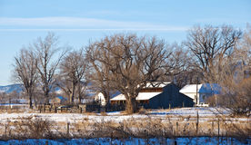 Little Prairie Farm in Winter Stock Photos