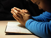 The little prayer Royalty Free Stock Photography