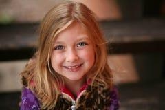 Little preschool blonde girl Royalty Free Stock Photo