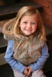Little preschool blonde girl Stock Image