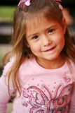 Little preschool blonde girl Royalty Free Stock Images