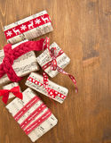 Little presents in boxes Stock Photography