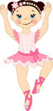 Little pretty ballerina. Vector illustration Royalty Free Stock Images