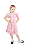 Little pretty girl in beautiful pink dress Royalty Free Stock Images