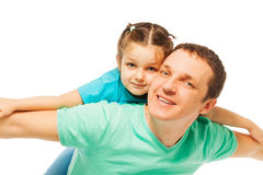 Little pretty girl with  her smiling father Stock Photography