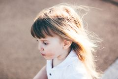 Little pretty girl riding Royalty Free Stock Images