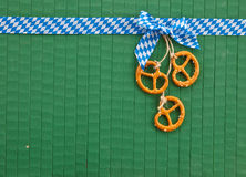 Little pretzels on green Royalty Free Stock Images