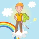 Little prince. Cute cartoon illustration Stock Images