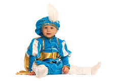Little prince in blue suit Royalty Free Stock Photos