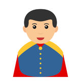 Little Prince Charming Avatar Flat Icon Royalty Free Stock Image