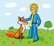 Little Prince and the Fox Royalty Free Stock Image