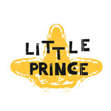Little prince. Hand drawn style typography poster.   Stock Photography