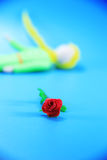 Little prince and his rose Royalty Free Stock Image